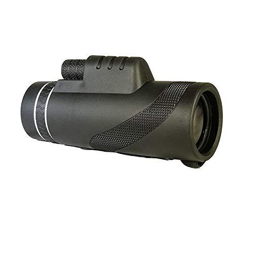 Yqs Fernglas 40X60 Leistungsstarke Zoom Telefon Ferngläser Optische HD-Objektiv Monocular-Teleskop mit Clip-Stativ for Sport Camping Outdoor-Reisen (Color : A)