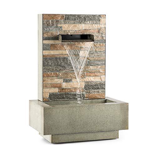 Blumfeldt Watergate - Fuente de Agua Decorativa, Bombea hasta 1000 l/h, Potencia 15 W, Protección IPX8, Uso Exteriores e Interiores, Aspecto Granito, Ladrillo Visto, Gris galvanizado