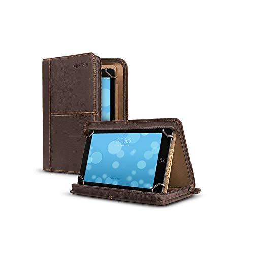 Solo New York Premiere Leather Universal Tablet Case for 5.5 Inch to 8.5 Inch Tablets, Espresso
