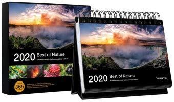 Best of Nature - Tageskalender - Kalender 2020 - Kunth-Verlag - Aufstellkalender mit Spiralbindung - Tischkalender mit 365 Bildern plus Hintergrundinformationen - 21,1 cm x 15,5 cm