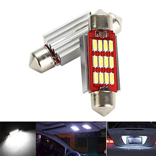 CICMOD 2 x 800 Lumen CANBUS Ampoules Intérieur 12 * 4014 SMD LED Eclairage Intérieur 31mm Xenon Blanc 6000K