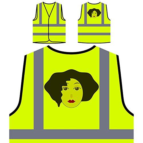 Señora De La Moda Mujer París Chaqueta de seguridad amarillo personalizado de alta visibilidad o606v