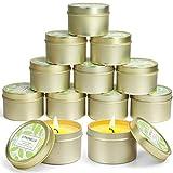 LA BELLEFÉE Vela de citronela, vela de cera de soja para las actividades en jardín, camping, terraza, picnic, 12 piezas