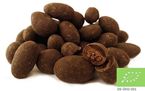 Edelmond Zartbitter schokolierte Kakaobohnen. Edelkakao Kugeln. Bio, Vegan, Fair-Trade. Die andere Art Bitter-, Herren- oder dunkle Schokolade zu genießen. 220g