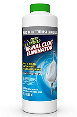 Green Gobbler Urinal Clog Eliminator | Urinal Chemicals | Urinal Drain Opener | Urinal Clog Remover | Urinal Calcium Remover | Urinal Scale Remover