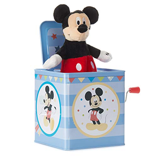 KIDS PREFERRED Disney Baby Mickey Mouse Jack-in-The-Box Musical Toy for Babies (Pop Goes The Weasel Jack In The Box)