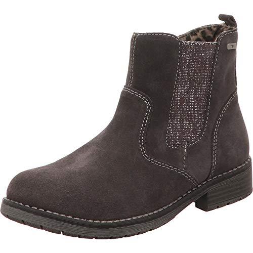 Lurchi Luana Mädchen Winter Leder Tex Boots Charcoal, Warmfutter, warmes Fußbett, mittlere Weite, 3739130/38