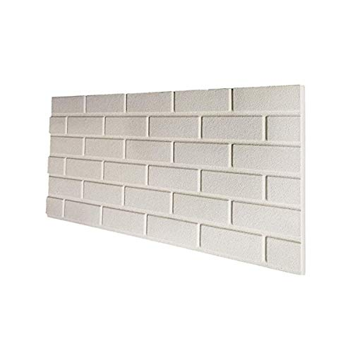 Panel de imitación de ladrillo blanco de EPS resinado, tamaño 100 x 50 cm, grosor 2 cm,...