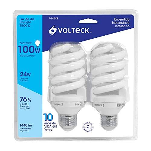 foco ahorrador grande marca Volteck