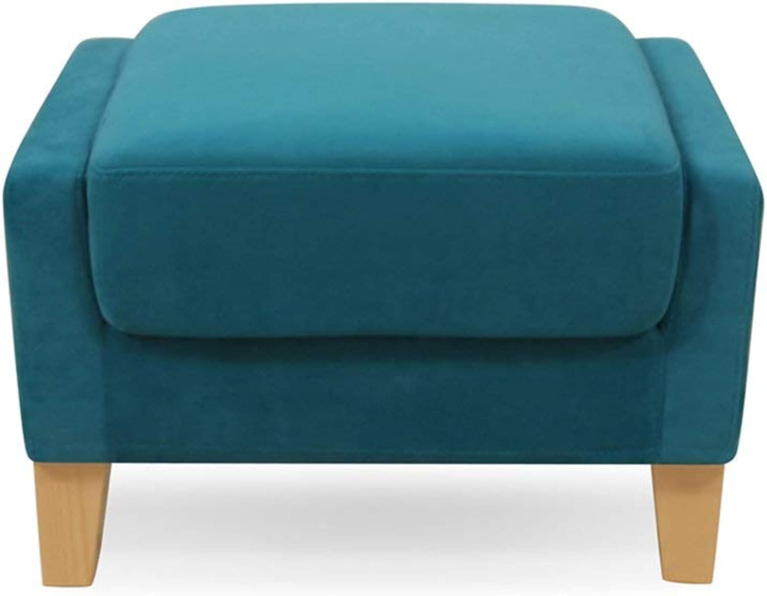 LUHEN Sofa Stool shoes Bench Modern and Simple Washable Cloth Art Small Sofa Stool Dressing Stool Low Stool 60cm Long Strong and Sturdy Foldable Leather Sofa Stool (color   bluee)