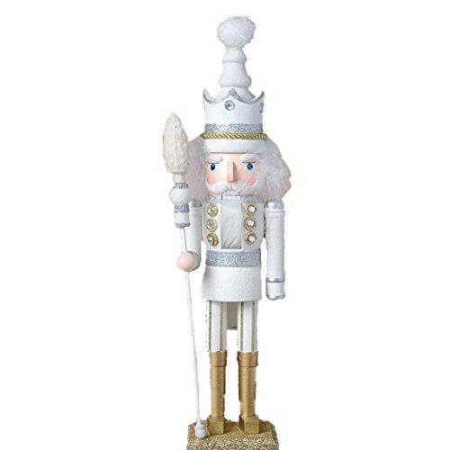 ZAH 18 인치 우든 호두까기 인형 크리스마스 장식 휴일 장식 키즈 호두까기 인형 화이트 킹