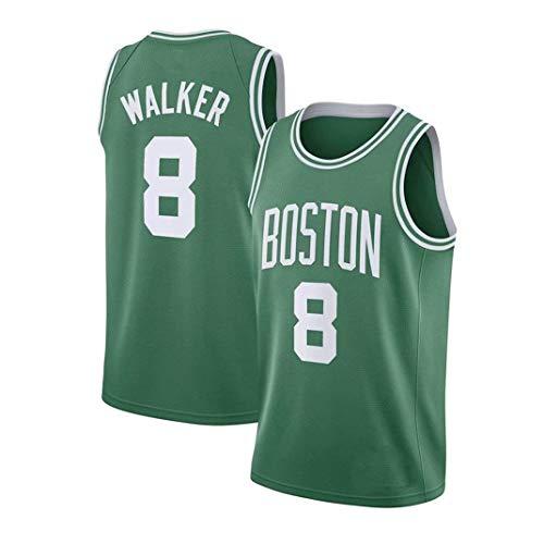 Yanhuimin NBA Kemba Walker 8 Boston Celtics Jersey Basketball-Trikot Retro City Version Breath Vintage-Jugend Ärmel Tops (Color : Green, Size : M)