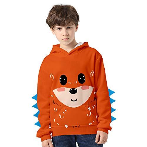 Haooyeah Anime Cute Dinosaur Printed Fashion Hoodies Pullover Sudadera para niños, Otoño Invierno Warm...