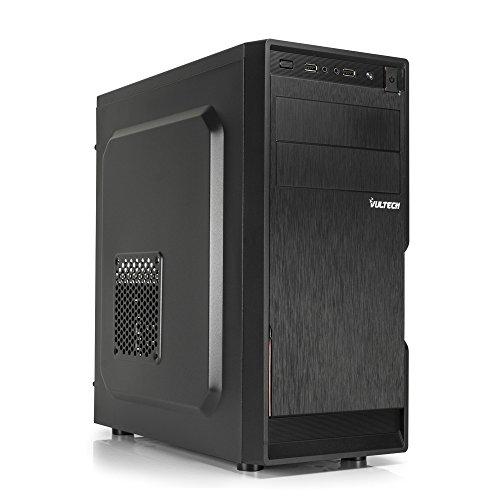Vultech GS-1696 Rev. 2.1 Middle-Tower con Alimentatore PSU 500W USB 2.0 HD-Audio Computer Case ATX, Micro-ATX, Mini-ITX, Nero