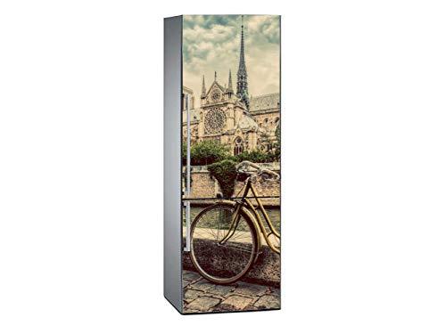 Oedim Vinilo para Frigorífico Vistas a Notre Dame 185x60cm | Adhesivo Resistente y Económico | Pegatina Adhesiva Decorativa de Diseño Elegante