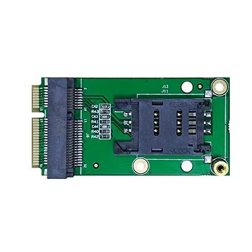EXVIST 4G LTE - Adaptador de Mini PCIe a Mini PCIe con ranura para tarjeta SIM (Flip) para WWAN/LTE 3G/4G para aplicaciones M2M e IoT como Raspberry Pi Router de video vigilancia