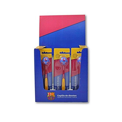 Cepillo de Dientes Infantil Oficial del F.C. Barcelona - Producto Oficial del Fútbol Club Barcelona, cepillarse los Dientes será más Divertido con tu Equipo Favorito