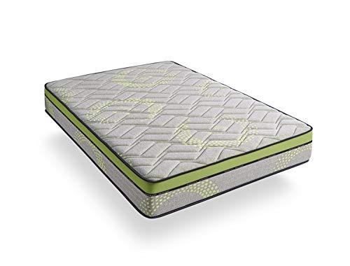 Zeng Spain Visco Luxury Dreams Sports Materasso viscoelastico Moderno 200x90x27 cm Verde e Grigio