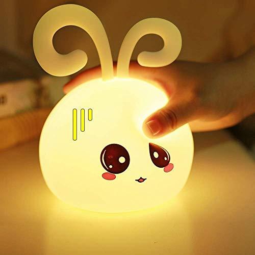 Wlgt Nachtlicht Schlafzimmer Schlafen Niedlich Tischlampe Silikon Material Laden Energiesparend Nachtlicht Mädchen Herz Steckbett Stehlampe