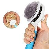Cepillo De Perro, Cepillo De Gatos, Cepillo Animal Peine Perros y Gatos, Eliminan el 95% de la capa interna muerta y pelos sueltos, para perros, gatos y otras mascotas de pelo largo y corto (Azul)