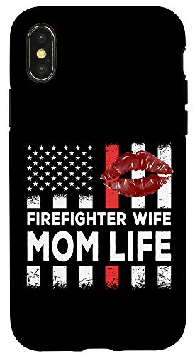 iPhone X/XS Proud Wife of a Firefighter Vintage Gift for Fireman Wifey Case
