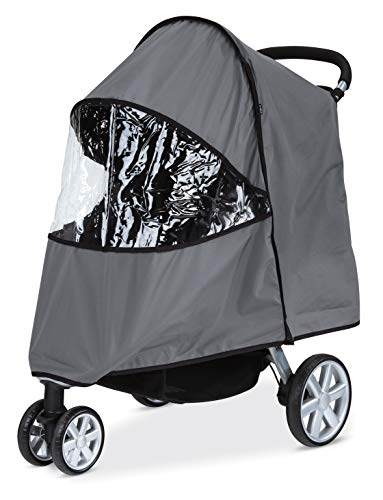 Britax Single B-Agile, B-Free, Pathway Strollers Wind and Rain Cover | Easy Install + Air Ventilation + Storage Pouch Included