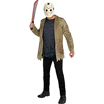 SUIT YOURSELF Jason Voorhees Halloween Costume for Men Friday The 13th Standard Size Includes Jacket Shirt and Mask