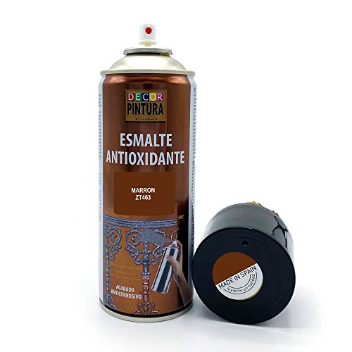 Pintura Spray Marron 400ml ANTIOXIDANTE para metal / anti oxido para metales, hierro, aluminio, acero / Para exteriores - interior aplicación sin imprimacion