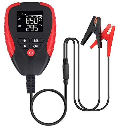 ULTRATOOL 12V Car Battery Tester Digital Analyzer with CCA Mode Automotive Car Boat Motorcycle Battery Load Tester and Analyzer of Battery Life