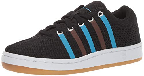 K-Swiss Women's Classic 88 Knit Clouds and Dirt Sneaker, Black-Brown-Blue, 9 M US