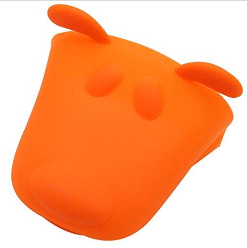 Dbtxwd Tête d'animal anti-brûlure gants Cartoon isolation Silicone four à micro-ondes gants gants de bicarbonate (pack de 4) , 2