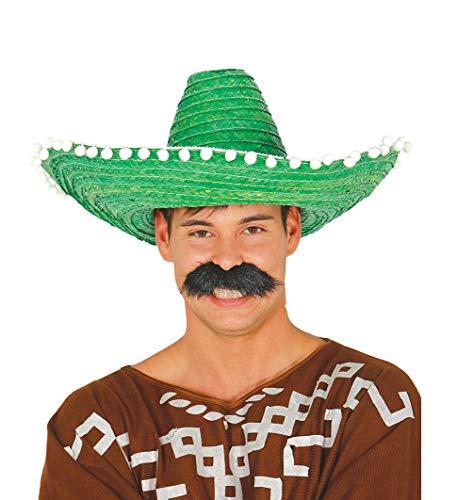 Guirca 13651 - Sombrero Mexicano Paja 50 Cms. Verde