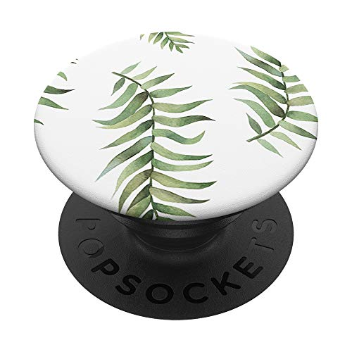 Green Watercolor Leaves Pop Socket PopSockets PopGrip: Swappable Grip for Phones & Tablets