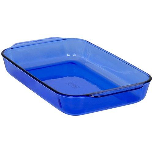 Pyrex Bakeware 9-by-13-Inch Rectangular Baking Dish, Cobalt