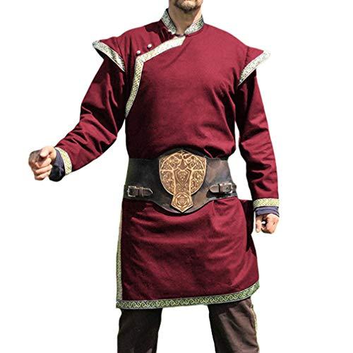 WEIMEITE Ritter Cosplay Kostüme Mittelalter Tunika Halloween Kostüme Für Männer Wikinger Pirat Rollenspiel Bekleidung Karneval Hemden