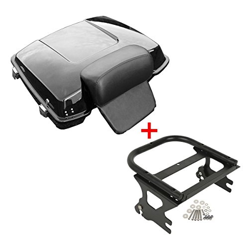 "TCMT 5.5"" Razor Tour Pack Trunk Backrest Rack Fits For Harley Touring Road King 97-08 (Style A)"