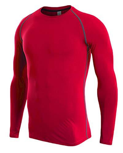 Camiseta De Compresiòn Camiseta Térmica Interior Hombre Manga Larga para Running Fitness Entrenamiento