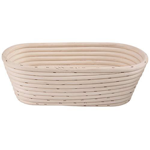 ORION Gärkörbchen Brotteig Gärkorb Brotform aus Rattan für hausgemachtes ovales Brot 26 x 13 cm, Höhe 9 cm