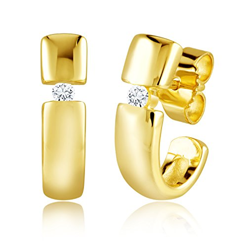 Diamond Line Diamond Line Damen - Ohrstecker 585er Gold 2 Diamanten