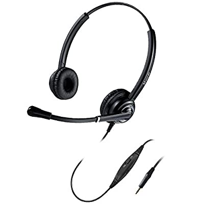 MAIRDI Cell Phone Headset with Mic Noise Canceling, Binaural 3.5mm Coumputer Headset for iPhone Samsung PC Laptops Mac Tablets, w/Mic Mute for Call Center Office Teams Skype Clear Chat from Xiamen Mairdi Electronic Technology CO . Ltd
