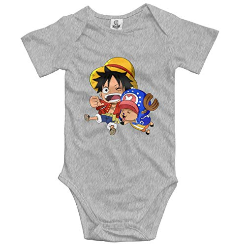 Anime One Piece Luffy and Qiao Ba Unisex Baby Onesie Rompers Customized Climbing Clothes 6M