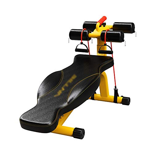 ZXQZ Fitness-Hantel Trainingsbank - mit Butterfly-Schutz Verdicktes Rückenbrett Sit-ups Fitnessgeräte für Zu Hause Multifunktions-Hantelbank Fitness-Trainingsbank Sitz Drücken Kleine Hantel