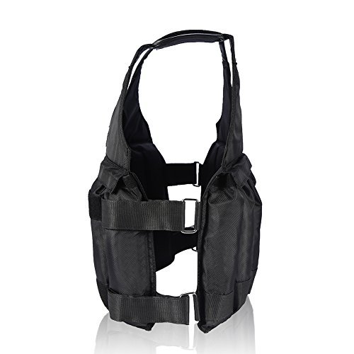 Yosoo Max Loading 50KG Adjustable Weighted Vest Workout Weight Jacket Exercise Boxing Training Fitness (NOT include weights)