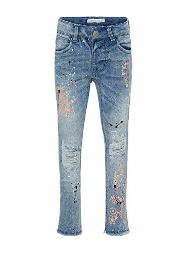 NAME IT Polly Jeans, kinderen, 104/4 jaar, lichtblauw