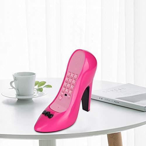 Schoenen met hoge hakken vorm telefoon, modern interieur vaste telefoon, tentoonstelling decoratie telefoon beste cadeau verjaardag vakantie Valentijnsdag (rood)
