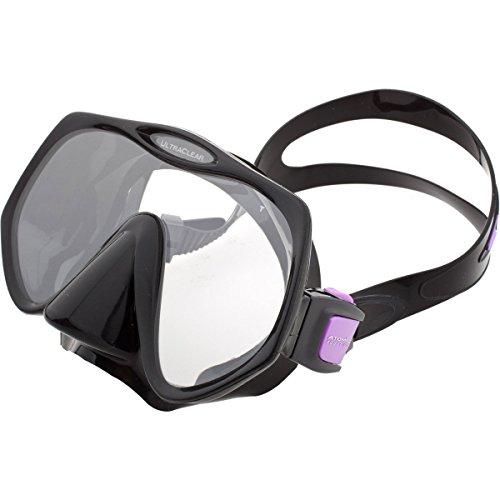Atomic Aquatics Frameless maschera per immersioni e snorkeling–Medium nero/viola