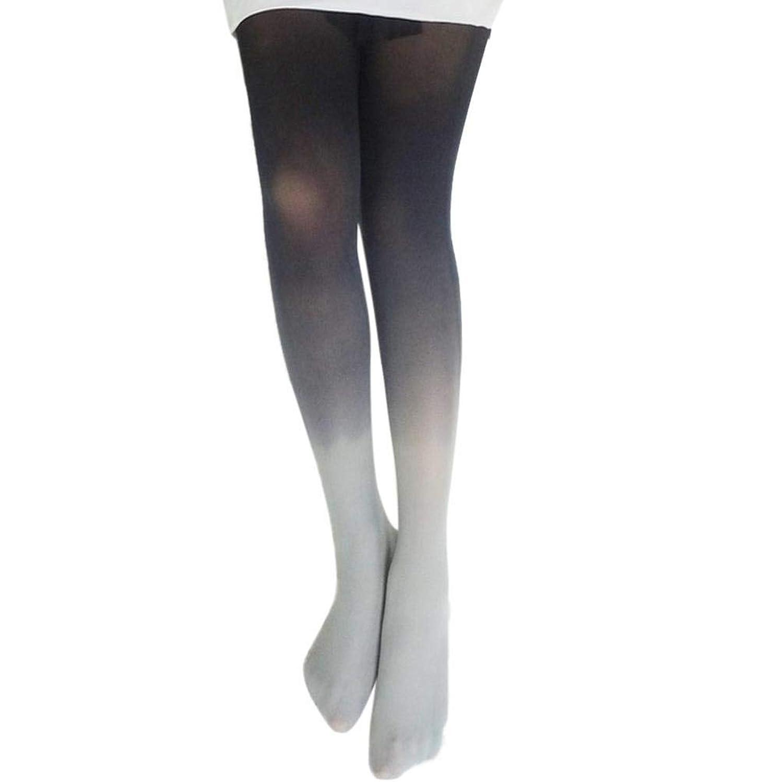 HUYB女性 グラデーション ストッキング 上の膝 ストッキング ニーハイ 着圧 オーバーニーソックス スッキリ 美脚  レディースソックス全12色