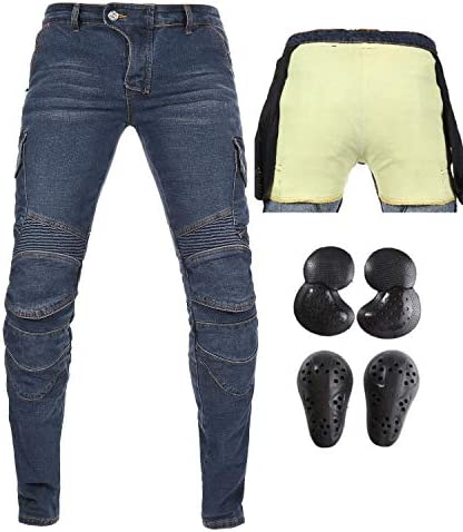 Takuey Men s Motorcycle Motorbike Riding Jeans with Lining CE Approved Overpants M 30 Waist product image
