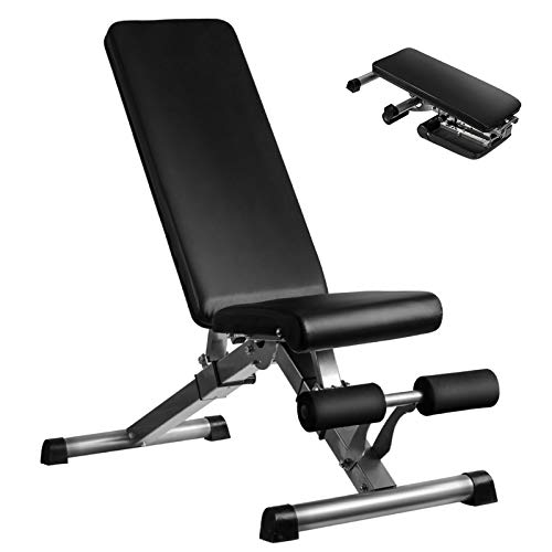 Adjustable Weight Bench Utility Workout Bench for Home Strength Training Flat Incline Decline Exercise Workout Bench for Home Gym