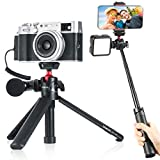 Ulanzi MT-16 Camera Tripod Stand Holder, Mini Tabletop Tripod Selfie Stick with Cold Shoe, Travel Tripod for iPhone 12 Canon G7X Mark III Sony ZV-1 RX100 VII A6600 Vlogging Filmmaking Live Streaming